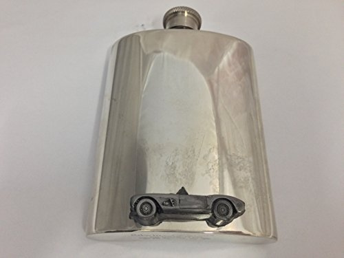 6oz-pewter-hip-flask-plain-with-chevrolet-corvette-circa-1957-emblem-ref36
