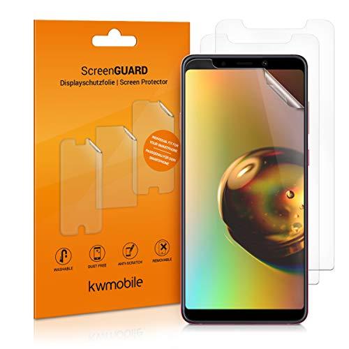 kwmobile 3X Folie für Samsung Galaxy A9 (2018) - klare Bildschirmschutzfolie Bildschirmschutz Crystal Clear kristallklar Bildschirmfolie Schutzfolie