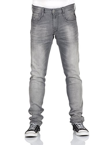 Replay Anbass, Jeans Homme Grau (Grey Denim 9)