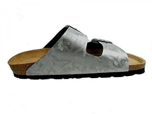 Rohde Damen Alba Pantoletten Silber (Altsilber)