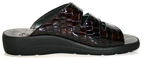 Ganter Selina 4-202903 Damen Schuhe Pantoletten, Weite F Rot (Bordeaux)