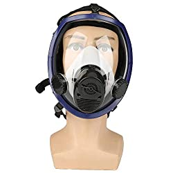 Three-in-One Function Air Fed Supplied Gas Mask System Full Face Airline Respirator for Paint Spraying Welding,Breathe Easily, Don't Need Cartridge, Mask Included