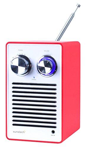 Sunstech rpr1160rd Retro-Radio mit Lautsprecher und AUX-IN, 1.2W Gesamt