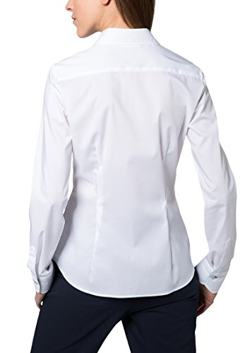 Eterna Chemisier à Manches Longues Slim Fit Chambray Uni Blanc