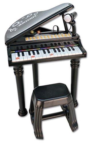 Bontempi Piano electrónico con 31 Teclas con micrófono y Taburete (Spanish Business Option Tradding 10 3000)