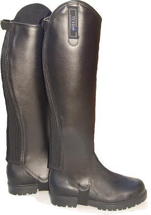 Produktbild Stiefelschaft Schwarz XXXX L Extra Weite Chaps Weitschaft Stiefelschaft Leder Übergröße Stiefelschäfte 48-53 / 37