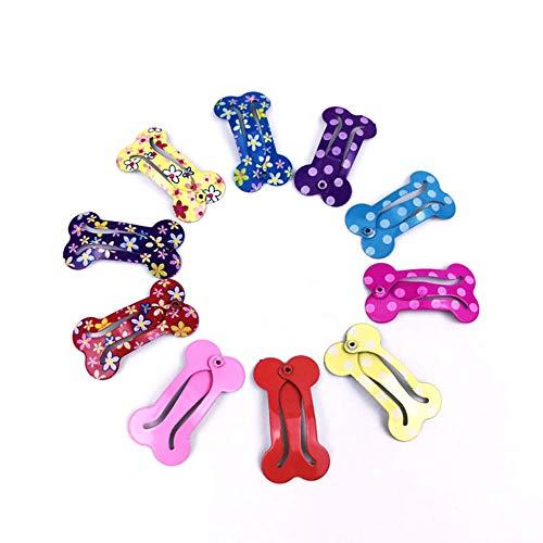 Ogquaton 10 Stück Mini-Hunde, Knochen, Haarspange, Haarspange, schöne Frisur, Zubehör für Welpen-Kostüm, Farbe - Schöne Knochen Kostüm