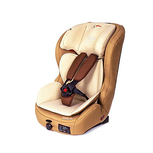 Kinderkraft Safetyfix Kinderautositz mit Isofix 9-36 kg Gruppe 1 2 3 Beige - 2