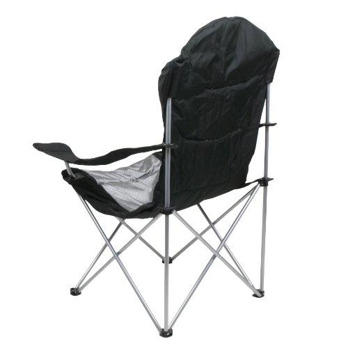 10T Lightboy - Faltbarer XXL Camping-Stuhl mobiler Hochlehner Maxi Polster-Sitzfläche Getränkehalter - 5