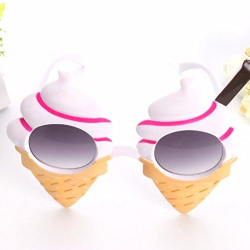 OULII Eiscreme Sommer Sonnenbrille Kostüm Gläser Stützen Lustige Neuheit Partei (Halloween Witz Nette Kinder)