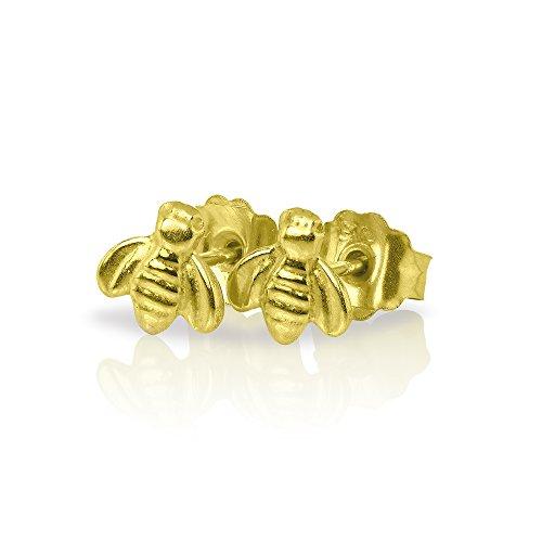 (9K Gold Biene Ohrstecker)