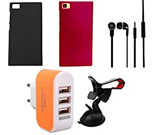 NIROSHA Cover Case Headphone Mobile Holder Charger for Xiaomi Mi3 - Combo