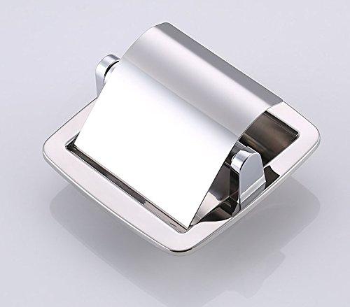 Hagyh Wc Papier Halter/Tissue Dispenser Mit Abgeschrägten Kanten Sus304 Edelstahl Poliert, Versenkt (Versenkt Halter)