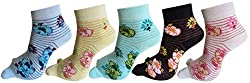 Rc. Royal Class Women's Ankle Length Thumb Socks (Pack of 5) (JHFLILY22_Multicolored)