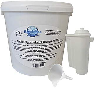 Aquintos Wasseraufbereitung Refill-Set ersetzt Siemens Brita Intenza TZ 70003 Wasserfilter - Umbau zur Refill- Set Nachfüllkartusche mit 2.5 Liter Nachfüllgranulat
