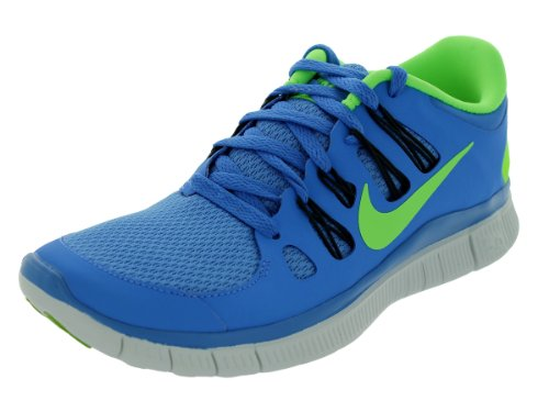 Nike Nike Free 5.0 Flash, Chaussures de running femme Bleu (Bleu/Flash lime/Anthracite/Bleu)