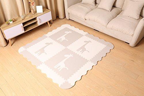 Grande tappetino da gioco per bambini grigio in rilievo con