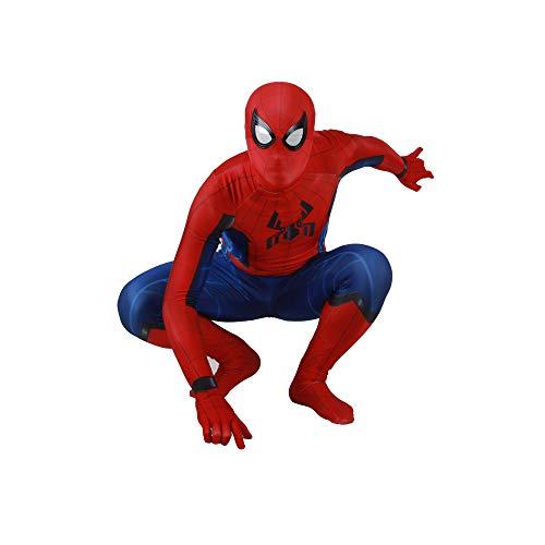 KOUYNHK Spiderman Homecoming Kostüm Erwachsene Kinder Spiderman Cosplay Halloween Cool Superheld Spandex Zentai Anzug,Adult-S (Coole Spiderman Kostüm)