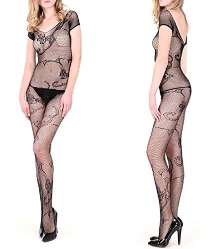 DFL Body Sexy Lingerie Womens Fishnet biforcazione Bodystockings ,