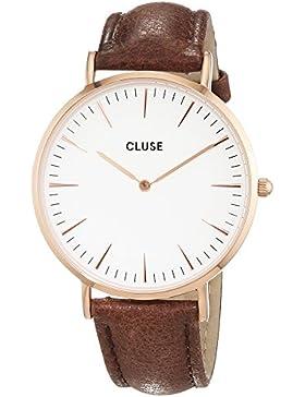 Cluse Damen-Armbanduhr Analog Quarz Leder CL18010