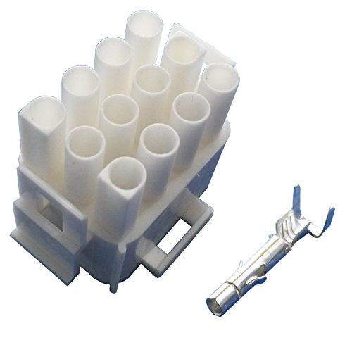 Preisvergleich Produktbild MATE-N-LOK Steckergehäuse 12 polig mit Buchsenkontakten (für 1, 5 mm² bis 2, 5 mm² Kabelquerschnitt) Stecker Wohnmobil Wohnwagen Caravan Elektroverteilung Elektroversorgung Schaudt Calira