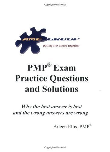 Portada del libro PMP Exam Practice Questions and Solutions Release 1.5 by Aileen Ellis (2005-05-08)