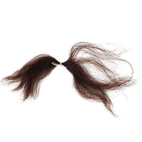 Falsches Bart-Haar, falscher Schnurrbart-Bart Wiederverwendbarer falscher Bart-Haar-gefälschter Schnurrbart Vervollkommnen Sie für Theater-Bühnenkostüm-Partei (Braun Bart Kostüm)