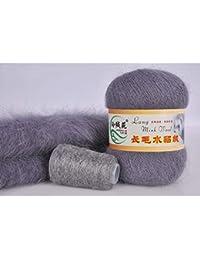 Manyo 1pc terciopelo de visón lana de punto para la mano Cachemira de lana larga inalámbrico