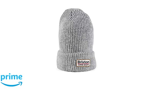 f86b067f7ac Brixton Palmer II Beanie Hat - Light Heather Grey  Amazon.co.uk  Clothing
