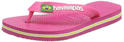 Havaianas Tongs Garçon/Fille Brasil Logo Rose Neon