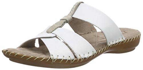 Jana - 27107, Ciabatte Donna Bianco (bianco (White 100))