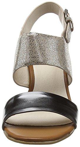 Giudecca S15-7 Damen Offene Sandalen Silber (AJ2/AG3 gun color)