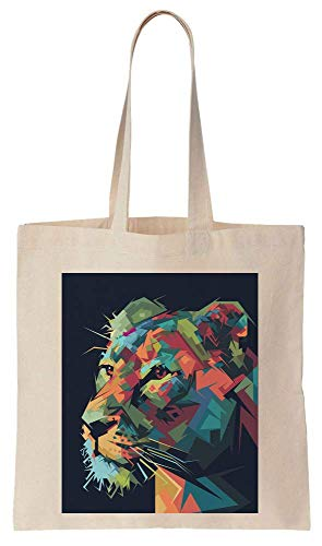 Awesome Colorful Polygonal Portrait Of A Tiger Cotton Canvas Tote Bag -