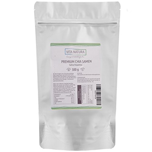 Vita Natura Chia Samen Premium-Qualität 500g
