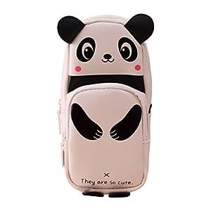 Katara 1800 Estuche de Lápices Escuela / Oficina Papelería – Bolso Escolar con Patrón de Panda, Negro-Blanco