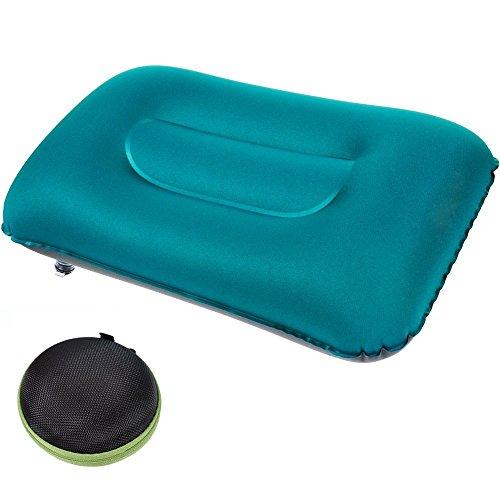 Camping Kissen aufblasbar, Audel ultraleichtes Reisekissen Aufblasbares Kopfkissen Luftkissen mit Tasche ideal für Reisen, Outdoor