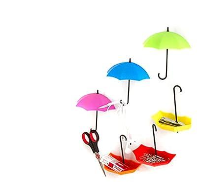 ODN 3pcs / lot Regenschirm-Form-nette selbstklebende Wand-Tür-Haken-Aufhänger-Beutel-Schlüssel-Badezimmer-Küche-klebriger Halter