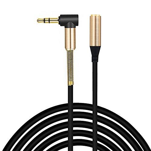ULTRICS Aux Verlängerung Kabel 1M, Stereo 3,5mm Klinke Audio Verlängerungskabel Stecker auf Buchse Jack Kopfhörer Extension Cable Kompatibel Mit Apple Samsung Smartphones Lautsprecher und Mehr