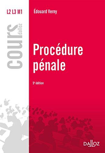 Procédure pénale - 5e éd.