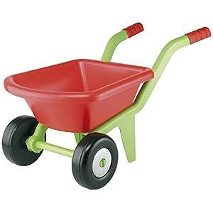 Écoiffier-7600000542 Carretilla de jardín vacía, Color Negro, Verde, Rojo (Smoby 542)