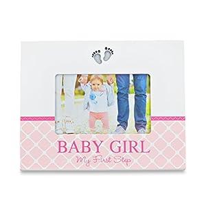 LED baby photo frame – LED Baby Fotorahmen – Baby Bilderrahmen mit LED Beleuchtung Fuß-Motiv – Baby Girl