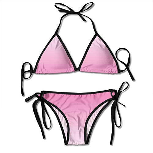 Women's Swimsuit Two Pieces Bikini Set, Fairytale Cotton Candy Inspired Theme Girly Design Room Decorations In Digital Modern Art Print,Swimwear Bathing Suits - Cotton Candy Twist