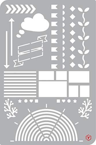 Schablone Vorlage Bullet Journal Setups 18x12cm Scrapbooking zeichnen malen Diary -