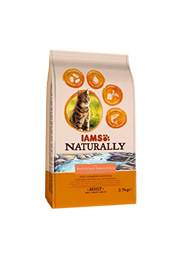 Iams Naturally Cat Food with North Atlantic Salmon and Rice, Complete and Balanced Cat Food with Natural Ingredients, 3… 4