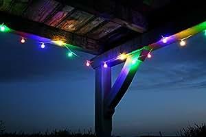 LED PARTYLICHTERKETTE 10m BUNTE LEDs 50er LICHTERKETTE