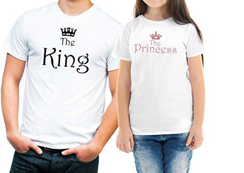 Festa del papa'magliette padre figlio king princess