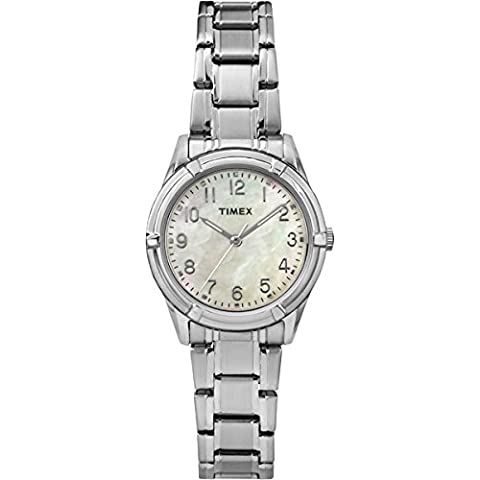 Timex TW2P76000 Orologio da Polso, Quadrante Analogico da Donna, Cinturino in Acciaio Inox, Colore Argento