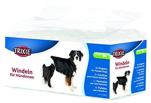 Trixie 23632 Windeln für Hündinnen, S-M: 28-40 cm, 12 St. -