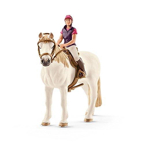 Schleich Horse Club Spiel-Set Neuheiten 2017 - Ausritt ins Grüne - Freizeitreiterin mit Pferd 42359 und Golden Retriever Hündin 16395 Figuren-Set 2-teilig