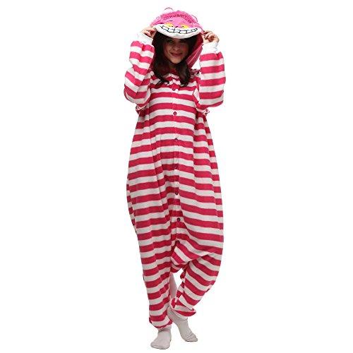 hsene Kleidung Kigurumi Kostüm Schlafanzug Einteiler S Gr. X-Large, Cheshire Cat ()